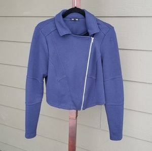 torrid Jackets & Coats - Torrid 00 Blue Violet Crop Zipper Fitted Jacket